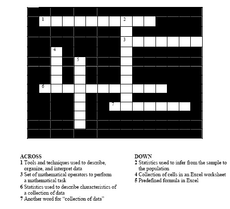 Crossword Puzzle #1